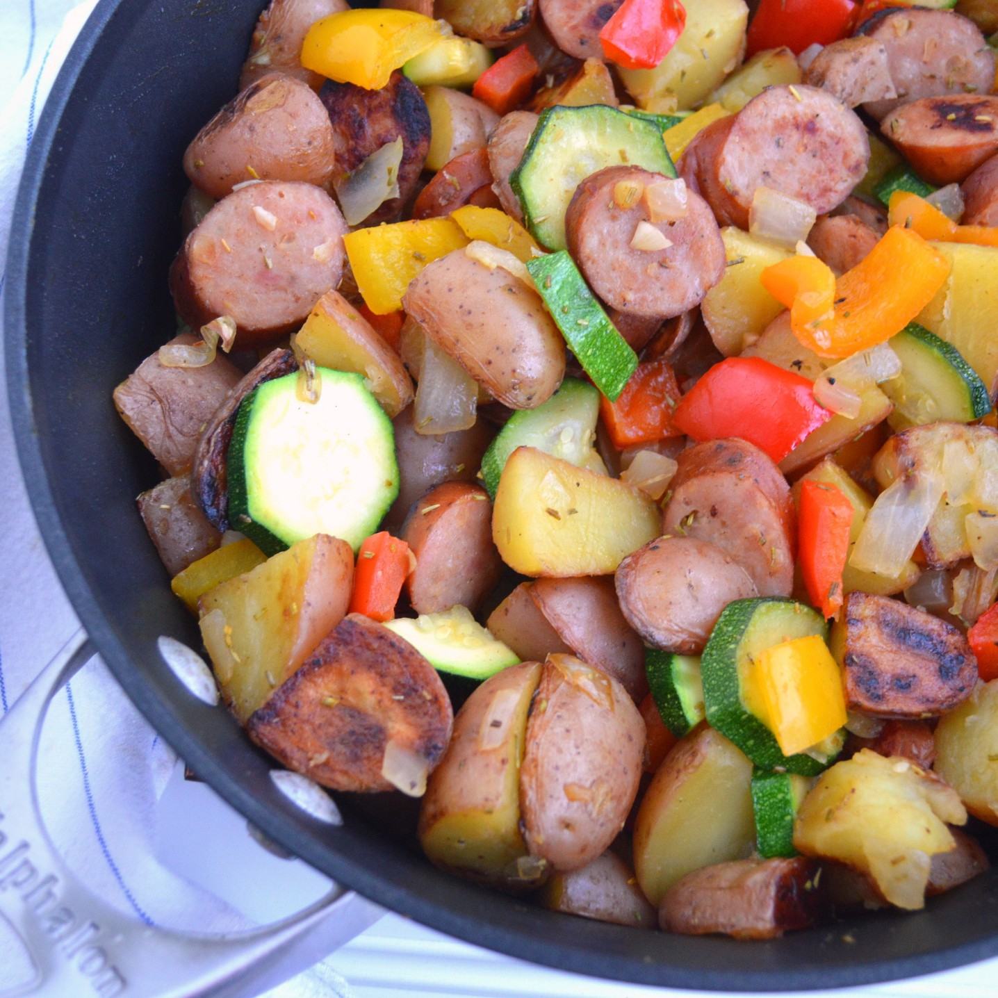 Summer Vegetables with Sausage – The Lemon Press
